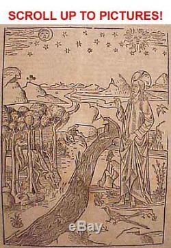 1527 ANTIQUE 16th C SIGNED SPANISH INQUISITOR'S WOODCUT HOLY BIBLE 1ST-ED 1611