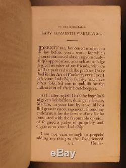 1799 English Housekeeper COOKBOOK Recipes Desserts Cooking SIGNED by Raffald