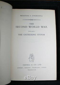 1948 Winston Churchill The Second World War Signed Volume Six 1st Editions Photo