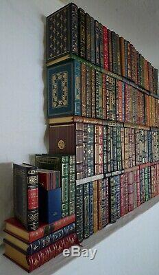 1970s Vintage Leather Book Collection, Signed Franklin Library Lot 136 Pieces