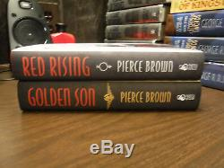 1st Signed Limited Subterranean Press Red Rising 1-3 by Pierce Brown Golden Son