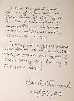 1st ed DRACULA Bram Stoker DJ Special Note SIGNED directly in book AN HEIRLOOM