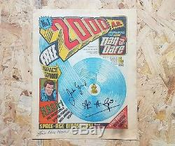2000AD #1 1977 signed by John Wagner, Alan Grant and Steve McManos