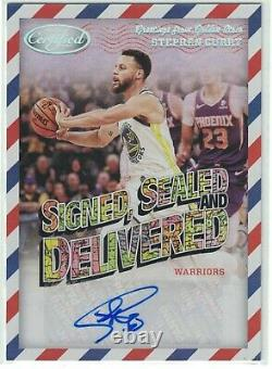 2020 Panini Certified Stephen Curry Autograph Signed, Sealed & Delivered SP Card