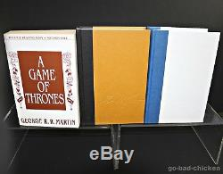 A Game Of Thrones by George R R Martin HI-GRADE! Bantam ARC & 1st/1st 6 Signed