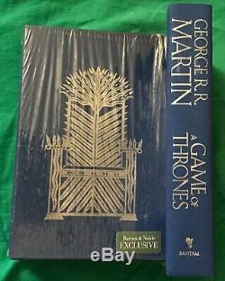 A Game of Thrones by George R. R. Martin (2011, Hardcover, Deluxe)-SIGNED