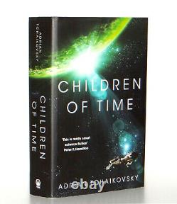 Adrian Tchaikovsky Signed Doodled Children of Time Hardcover 1st Edition 1st Prt
