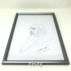 Alan Lee The Hobbit Sketchbook + Original Drawing (Gandalf) SIGNED & Dated UK