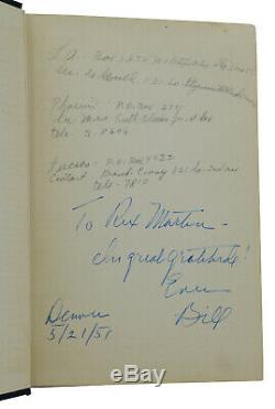 Alcoholics Anonymous AA Big Book SIGNED by BILL WILSON First Edition 8th Print