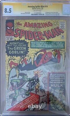 Amazing Spider-Man 14 SS CGC 8.5 SIGNED STAN LEE