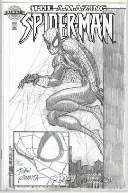 Amazing Spider-man #1 Authentix Dynamic Forces Signed John Romita Sketch Marvel