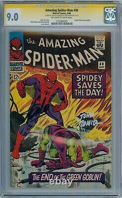 Amazing Spider-man #40 Cgc 9.0 Signature Series Signed Stan Lee John Romita Sr