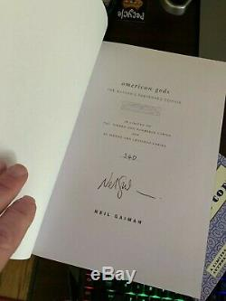 American Gods Neil Gaiman Hill House First Deluxe Edition Signed Limited # 340