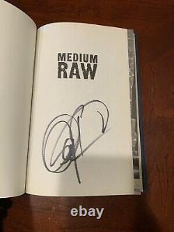 Anthony Bourdain Medium Raw 1st Edition Signed
