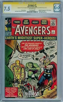 Avengers #1 1963 Cgc 7.5 Signature Series Signed Stan Lee Ayers Nicolas Cage