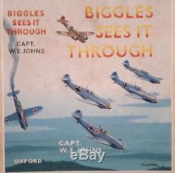 BIGGLES original WC Cover art 1st edition Biggles sees it Through W. E. Johns