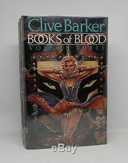 BOOKS OF BLOOD Clive Barker First Edition 1984 Signed By Author Complete