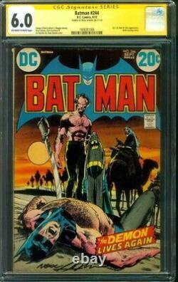 Batman 244 CGC SS 6.0 Ra's Al Ghul Talia Neal Adams Cover 1972 Movie WOW