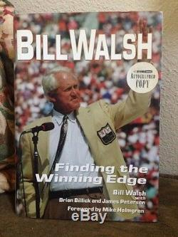 Bill Walsh Legendary 49ers Coach Finding the Winning Edge Signed Autographed F/S