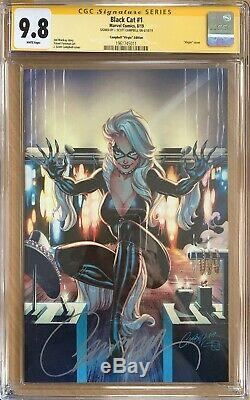 Black Cat 1 CGC 9.8 Signature Series signed by J Scott Campbell virgin variant
