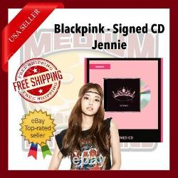 Blackpink The Album CD with Signed Cover Autograph by Jennie US Seller In Hand
