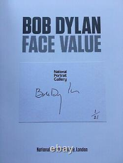 Bob Dylan SIGNED Numbered Ltd Ed Book Face Value Number 1 Of 21 RARE MINT NEW