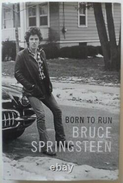 Bruce Springsteen BORN TO RUN autographed FIRST hardcover EDITION signed LTD