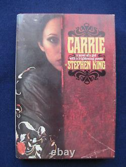 CARRIE by STEPHEN KING 1st Ed in Jacket, PETE FOUNTAIN'S Copy SIGNED by Him