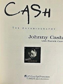 Cash, The Autobiography Signed By Johnny Cash, First Printing 1997 -mint