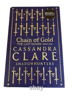 Chain Of Gold, Waterstones Exclusive Rune Edition. Stamp Signed. Cassandra Clare