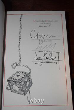 Cive Barker SCARLET GOSPELS Signed LETTERED STATE Limited Edition 1/26 NOT PC