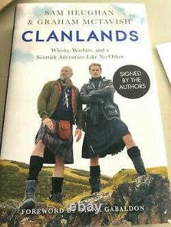 Clanlands by Sam Heughan & Graham McTavish SIGNED Bookplate UK Edition Outlander