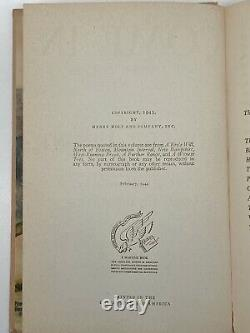 Come In and Other Poems SIGNED FIRST EDITION Robert FROST 1943