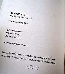 DEAD NAMES Signed Edition Simon Necronomicon Ltd Ed 1/350 Qliphoth Grimoire RARE