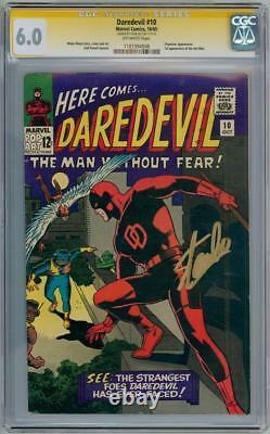 Daredevil #10 Cgc 6.0 Signature Series Signed Stan Lee Silver Age Marvel Comics