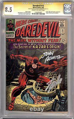 Daredevil #13 Cgc 8.5 Signature Series Signed Stan Lee John Romita Ka-zar Marvel