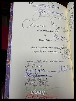 Dark Dreamers SIGNED by STEPHEN KING DEAN KOONTZ & C. BARKER + 23 OTHERS 1/345