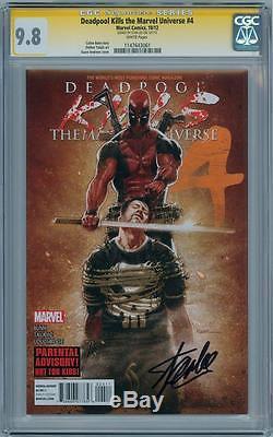 Deadpool Kills Marvel Universe #4 Cgc 9.8 Signature Series Signed Stan Lee Movie