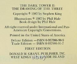 Drawing of the Three STEPHEN KING Signed Limited First Edition Dark Tower