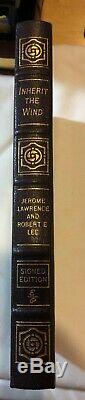 Easton Press INHERIT THE WIND Jerome Lawrence SIGNED Creationism vs Evolutionism