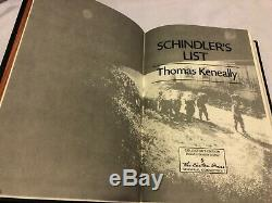 Easton Press SCHINDLERS LIST Thomas Keneally Holocaust Germany SIGNED FIRST ED