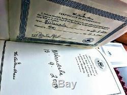 Easton Press SIGNED Long Walk to Freedom (Nelson Mandela Autobiography) LIKE NEW