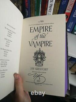 Empire of the Vampire Signed Numbered Sprayed Goldsboro First Edition