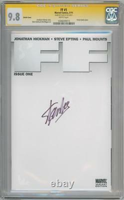 Ff #1 Blank Cgc 9.8 Signature Series Signed Stan Lee Fantastic Four Marvel
