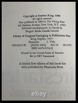 Firestarter SIGNED by STEPHEN KING N/M 1st Hardback Edition First Printing