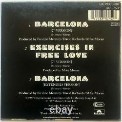 Freddie Mercury'Queen' Signed Barcelona CD Single Autograph