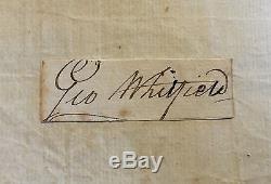 GEORGE WHITFIELD Autograph SIGNED Signature METHODIST Great Awakening RARE