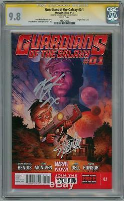 Guardians Of The Galaxy #0.1 Cgc Signature Series Signed Stan Lee Karen Gillen
