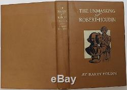 HARRY HOUDINI The Unmasking of Robert Houdin INSCRIBED FIRST EDITION