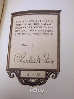 HARVARD CLASSICS 1st ALUMNI Ed 7 of 200 Limited & Signed LEATHER SET Ultra Rare
